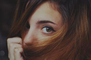 brunette face ruby james brown eyes closeup women