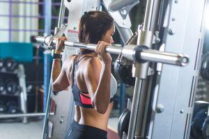 brunette sport  women sportswear sports bra working out fitness model women indoors gyms