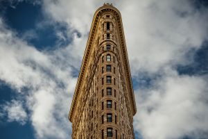building clouds flatiron building  sky facade