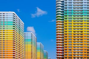 building sky architecture colorful