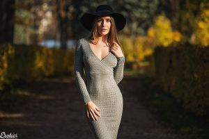 bushes hat dress eva lunichkina model women cleavage outdoors brunette women outdoors tight dress women with hats aleksandr margolin