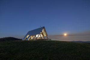cabin modern landscape house architecture