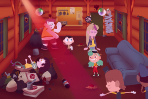 camp camp cartoon couch humor room