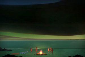 campfire alex (oxenfree) oxenfree video games artwork dark oxenfree alex (oxenfree) nona (oxenfree) jonas (oxenfree)