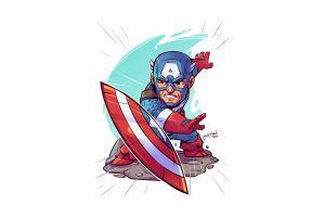 captain america simple background marvel comics white background derek laufman
