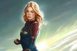 captain marvel superheroines artwork