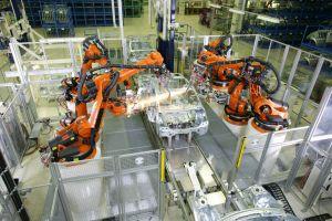car metal long exposure vehicle sparkles robot welding motion blur factory machine sparkle kuka technology industrial