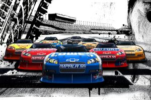 car nascar racing vehicle artwork