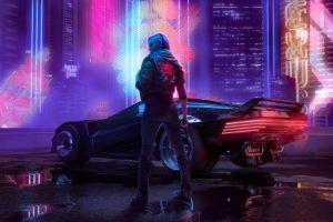 car octokuro jacket cyber cyberpunk cyberpunk 2077 futuristic