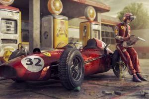 car red cars numbers artwork vehicle race cars ferrari