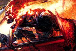 car sword skull chains marvel comics robbie reyes  burning ghost rider