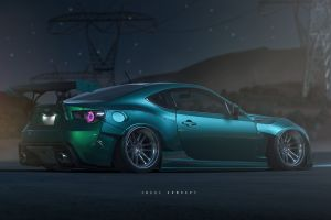 car toyobaru digital art photo manipulation vehicle subaru brz