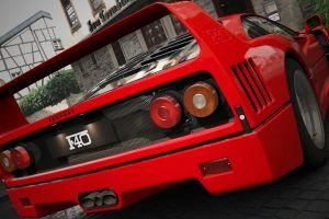 car vehicle ferrari f40 ferrari red cars