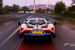 car video games screen shot forza horizon 4 lamborghini