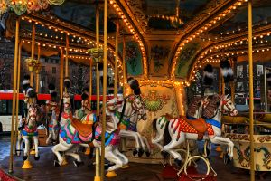 carousel urban colorful outdoors