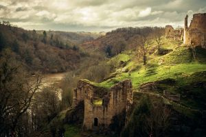 castle ruin landscape france