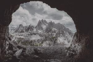 cave mountain pass landscape