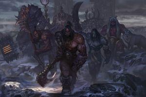 chenbo digital art kilrogg deadeye warcraft ner'zhul blackhand artwork gul'dan video games durotan world of warcraft world of warcraft: warlords of draenor grommash hellscream orcs