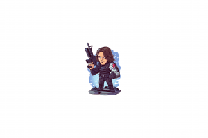 chibi marvel super heroes minimalism marvel heroes bucky barnes captain america: the winter soldier marvel cinematic universe marvel comics