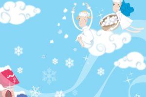 children illustration clouds