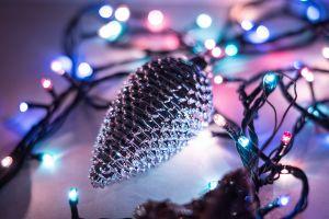 christmas colorful lights bokeh