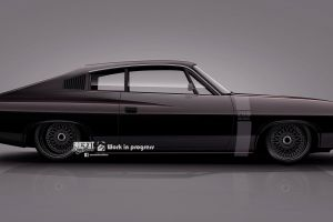 chrysler black cars render side view axesent creations muscle car australian cars