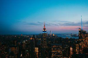 city city lights cityscape usa empire state building urban outdoors building manhattan sky new york city