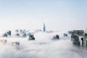 city landscape clouds