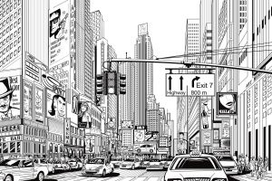cityscape artwork city
