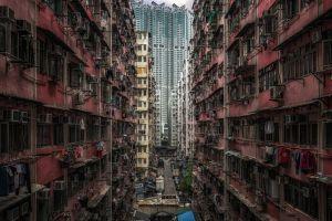 cityscape china urban hong kong asia