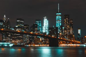cityscape city lights new york city city brooklyn bridge