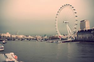 cityscape urban ferris wheel boat water london eye pier london