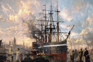 classical art artwork ship painting greg rutkowski