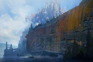 cliff artwork digital fantasy art landscape