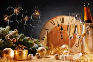 clocks numbers 2019 (year) new year christmas ornaments