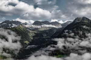 clouds panorama sky nature mountains landscape