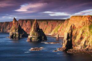 coast cliff nature sea scotland
