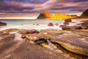 coast water sea nature sky rock