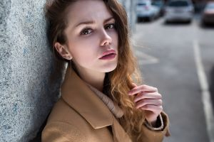 coats 2018 (year) women outdoors urban face women model lenar abdrakhmanov