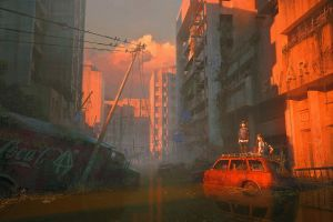 coca-cola concept art science fiction city artwork apocalyptic digital