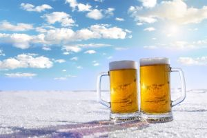 cold snow drinking glass food clouds alcohol beer