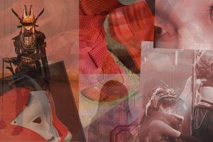 collage collage artwork asia futuristic