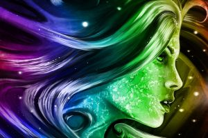 colorful artwork face profile women abstract