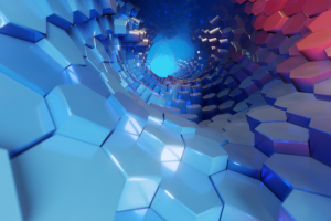 colorful hexagon abstract 3d abstract tunnel