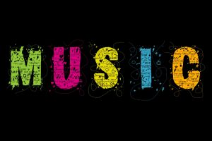 colorful typography music