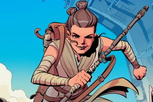 comic art rey (from star wars) rey star wars heroes star wars