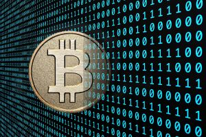 computer money coin cryptocurrency currency binary digital art bitcoin technology