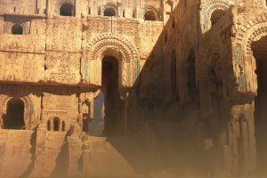 concept art temple digital ruins fantasy art