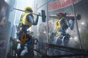 courageous  science fiction pathfinder imagination apex legends robot futuristic