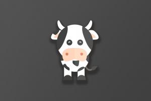 cow artwork animals simple background digital
